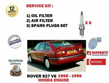 FOR ROVER 800 827 2.7 HONDA ENGINE 1988-1996 OIL AIR FILTER KIT + SPARK PLUG SET