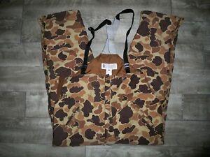 Columbia Camo Camouflage Waterproof Men's Duck Hunting Bib Overalls Mens Size XL