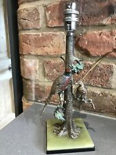 Art Deco Austrian Cold Painted Bronze Pheasant Lamp Ex Con Circa 1920 Onyx Base