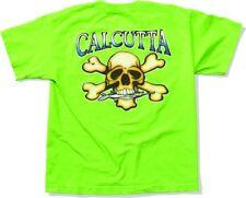 NEW Calcutta Fishing Logo Short Sleeve T-Shirt Kids L Lime CLG-CALX15L