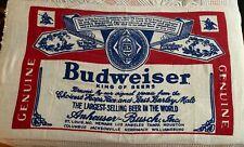 "Nos Dead Stock Vintage Budweiser Label Beach Towel Anheuser Busch Beer 64""x34"""