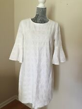 Nwt J.Crew Factory Bell-Sleeve Eyelet Dress White Size XS G3358 $79