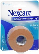 Nexcare Absolute Waterproof Tape 1 Inch X 5 Yards, 1ea (Pack of 9)