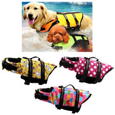 Pet Dog Life Jacket Vest Reflective Preserver Swimming Surf Sailing Saver S-XXL