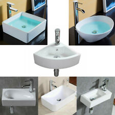 Square Cloakroom Wall Hung Counter Top Oval Corner Ceramic Hand Wash Basin Sink