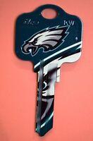 Great Gift Idea NFL PHILADELPHIA EAGLES KWIKSET KW1, KW10, KW11 UNCUT KEY BLANK