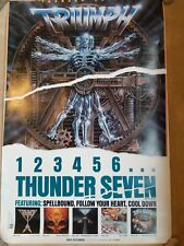 "Large Triumph Band Marketing Poster Vintage 24""x36"" Thunder Seven Allied Forces"