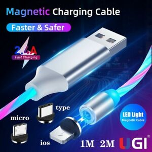 UGI LED Light Up Charging charge Cable USB C For iPhone Type-C Samsung Micro-USB