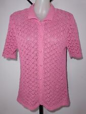UNBRANDED Size 10 Pink Cotton Lacey Cardigan
