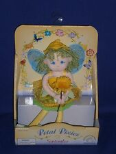 Vintage September Petal Pixies Cloth Doll by Applause 7 inch 2002 Mint in Box