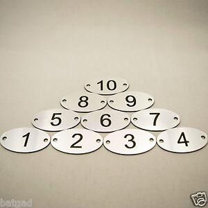 1-25 Laser Engraved Number Ovals, Table, Tags, Locker, Pub, Restaurant, Clubs