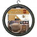 couvre volant 100% cuir noir  nissan almera - diamètre volant 37/39cm -