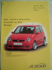 VW Lupo by JE Design brochure Oct 1998 German text + price list