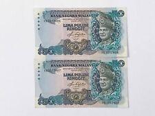 5th Series Malaysia RM50 Ringgit Prefix VB  Condition : AU/UNC