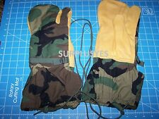 NEW US Issue Military Glove Trigger Finger Mittens Leather M1965 Army LARGE P38