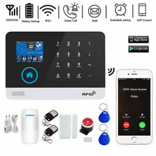 Smart Wifi Alarm System Wireless GSM Home Burglar Security Kit Touch Screen App