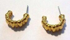 boucles d'oreilles percées bijou vintage couleur or anneau signées NAPIER  *67