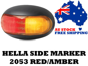 Hella 2053 Side Markers Red/Amber Single Pack