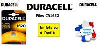 Piles boutons lithium Duracell CR1620 3V ** Expédition Rapide Et Gratuite **