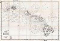 MAP ANTIQUE 1939 MILITARY JAPANESE NAVY HAWAIIAN ISLANDS REPLICA PRINT PAM2034