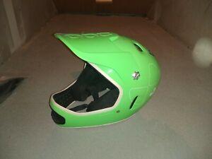 Poc Cortex Flow grün Größe s/m 53-55 Full Face Downhill Helm