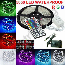 10/5M SMD 5050/3528 RGB 150/300/600 LED Strip Adapter IR Remote Waterproof Kit