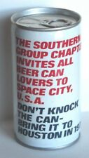 Clean 1977 Crimped Steel Southern Group Chapter Budweiser Pull Tab Beer Can A/S