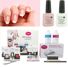 CND Shellac French Manicure Gel Nail Starter Kit Classy 24W LED Lamp Included