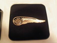 110TH ANNIVERSARY HARLEY DAVIDSON SWEPT WING DESIGN PIN! NEW IN BOX!
