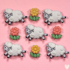 DRESS IT UP Buttons Counting Sheep 5798  - Lambs Easter Embellishments