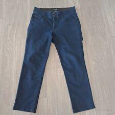 Autograph Womens Soft Denim Pants Stretch Capri Elastic Waist Navy Plus Size 14