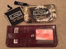 LANG SIGNATURE COLLECTION KIELER WALLET & JE VEUX HANDBAGS ID, CREDIT CARD, WALL
