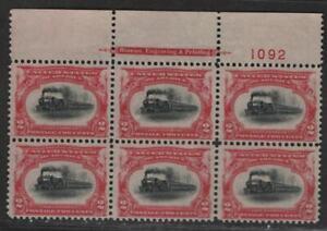 $US Sc#295 M/F-VF, no gum, Plate Block, perf seps, Cv. $325