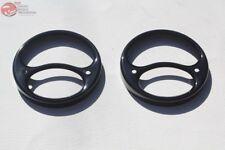 28-31 Ford Model A Rear Tail Light Lamp Lens Black Trim Rim Ring Bezels Pair New
