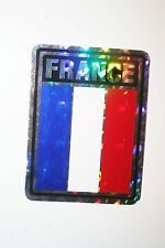 FRANCE COUNTRY FLAG  METALLIC BUMPER STICKER DECAL .. 4 X 3 INCH