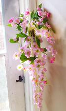 Sakura Pink Hanging Vines Artificial Flower Bush Wedding Decoration