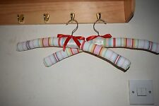 Hand sewn padded coathangers in Laura Ashley fabric. Set of 2. Free P&P.
