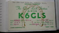 OLD VINTAGE QSL HAM RADIO CARD POSTCARD, LAVERNE CALIFORNIA 1959
