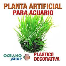 PLANTA ARTIFICIAL VERDE 10CM ALTURA DECORACIÓN ACUARIO PECERA PLÁSTICO D92