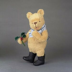 """R.John Wright HOLIDAY WINNIE THE POOH 12"""" Mohair Plush - Fully Jointed"""