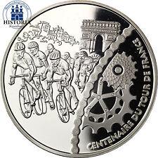 France 1,5 euro 100 ANS TOUR de FRANCE 2003 argent pièce zieleinfahrt