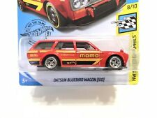 2020 Hot Wheels SUPER CUSTOM Datsun 510 Wagon Momo Red Lowered With Real Riders