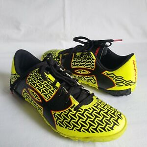 Under Armour CF Force 2.0 FG Boys Youth Soccer Cleats Size 3.5 Y Neon Black Red