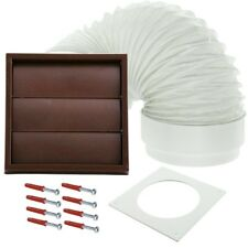 "Venting Kit For Indesit Tumble Dryer External Vent Wall Outlet 4"" 100mm Brown"