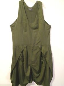 "KEKOO 3/L Quirky Layering Jumper Dress~Pockets Artsy Asymmetry Large 54"" hip"