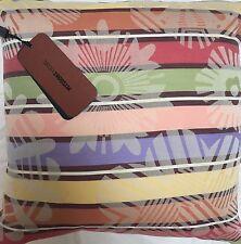 "MISSONI HOME $232 ""Natalie"" Reversible Floral Stripe Throw Cushion Pillow BNWT"