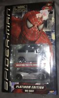 Marvel Spiderman Platinum Edition Die cast vehicles With Film Still Booklet New