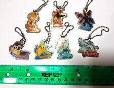 Pokemon - BW Metal Mini Keychain LOT of 7 Reshiram Zekrom Tepig Oshawott Emolga