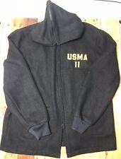 USMA West Point Cadet Military Army Black Wool Coat Parka Jacket 46 L 2011