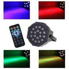 RGB 54W 18-LED DMX-512 Projector Stage Lighting Par DJ Light w/ Remote Control